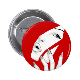 One Last Caress Girl 2 Inch Round Button