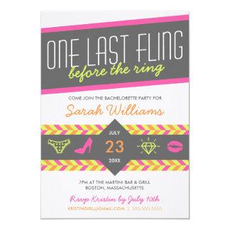 One Last Fling Bachelorette Party Invitation