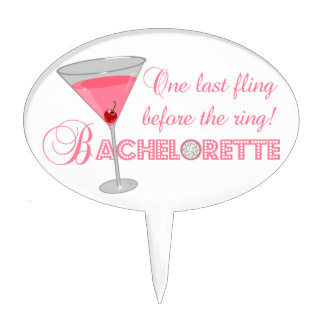 One last fling before the ring! Bachelorette Party Cake Topper