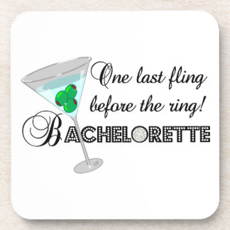 One last fling before the ring beverage coaster