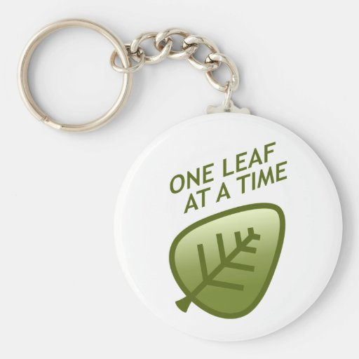 One Leaf At A Time Basic Round Button Keychain