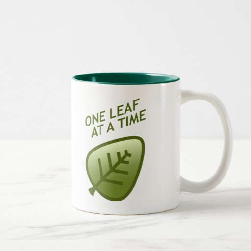 One Leaf At A Time Two-Tone Coffee Mug