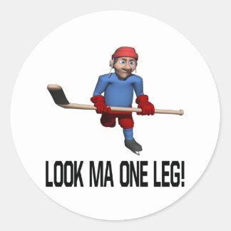 One Leg Classic Round Sticker