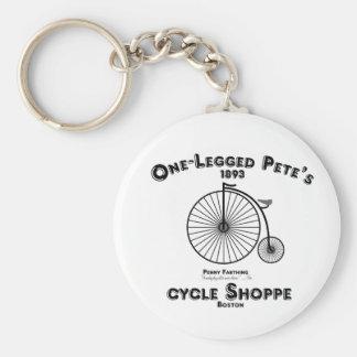 One Legged Pete's Cycle Shoppe, Boston. Key Chain