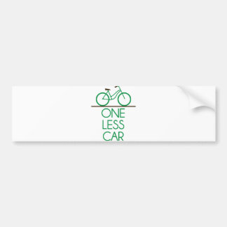 One Less Car Earth Friendly Bicycle Bumper Sticker