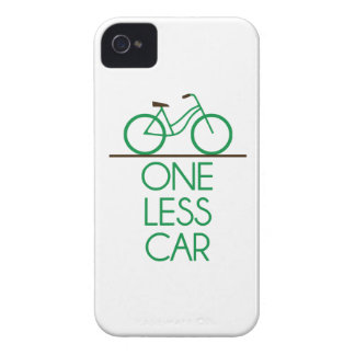 One Less Car Earth Friendly Bicycle iPhone 4 Covers