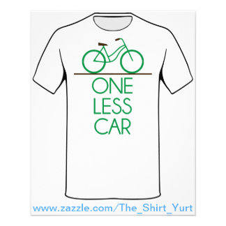 One Less Car Earth Friendly Bicycle Flyer