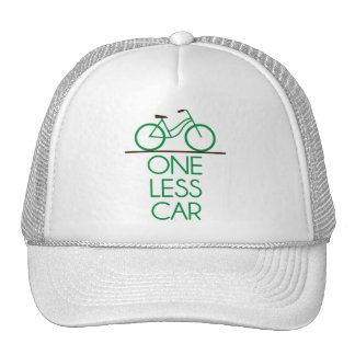 One Less Car Earth Friendly Bicycle Hats
