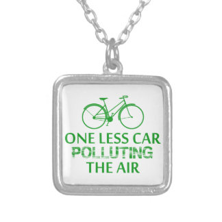 One Less Car Polluting the Air Custom Necklace