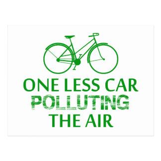 One Less Car Polluting the Air Postcard