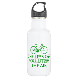 One Less Car Polluting the Air Water Bottle