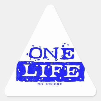 ONE LIFE (blue) Triangle Sticker