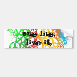 One life, Live it! Bumper Sticker