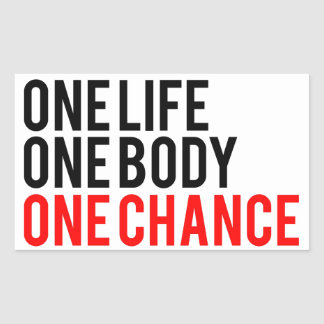 One Life One Body One Chance Rectangular Sticker