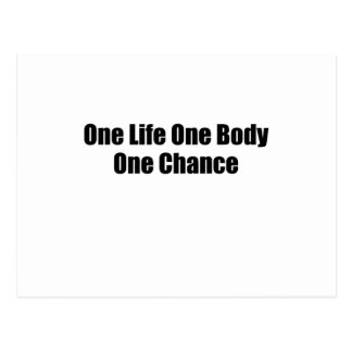 One Life One Body One Chance T-Shirts S.png Postcard