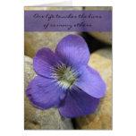 One Life Violet Sympathy Card