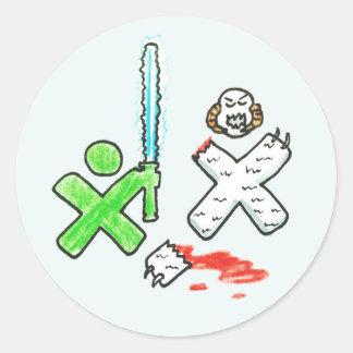 One Lightsaber Per Child Classic Round Sticker