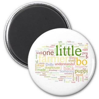 one little farmer boy 2 inch round magnet