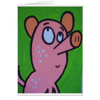 One little pig card