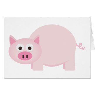One Little Pig in Pink Card