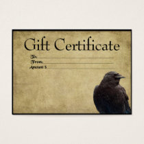 One Lone Crow- Prim Gift Certificate Cards