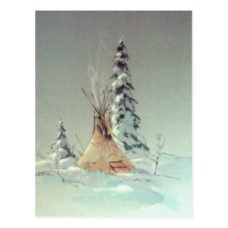ONE LONE TIPI by SHARON SHARPE Postcards