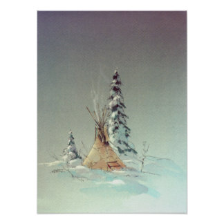 ONE LONE TIPI by SHARON SHARPE Poster