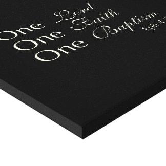 One Lord, Faith, Baptism Canvas Print