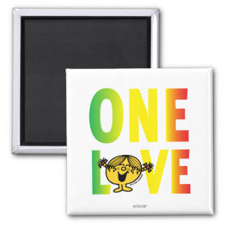 One Love 2 Inch Square Magnet