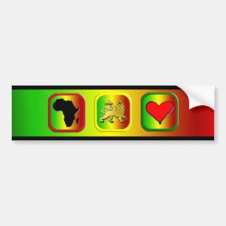 One Love African Map Lion king of Judah Bumper Sticker