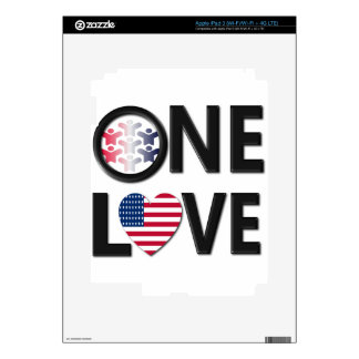 One Love American Colors Decals For iPad 3