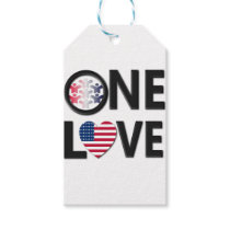 One Love American Colors Gift Tags