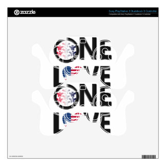 One Love American Colors PS3 Controller Skin