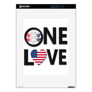 One Love American Colors Skin For iPad
