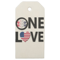 One Love American Colors Wooden Gift Tags