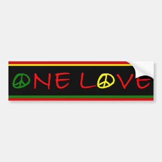 One Love Bumper Sticker Car Bumper Sticker