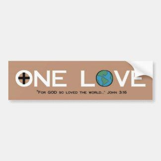 One Love Car Bumper Sticker