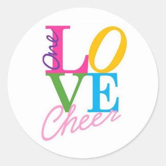 One Love Cheer Round Sticker