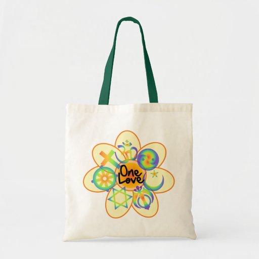 One Love Flower Canvas Bag
