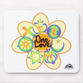 One Love Flower Mouse Pads
