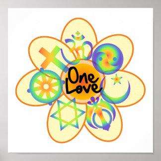 One Love Flower Poster
