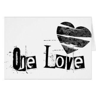 One Love Heart Black Card