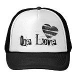 One Love Heart Black Trucker Hat