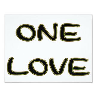 One Love 4.25x5.5 Paper Invitation Card
