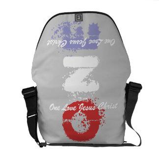 one love jesus christ messenger bag