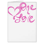 One Love Logo Greeting Card