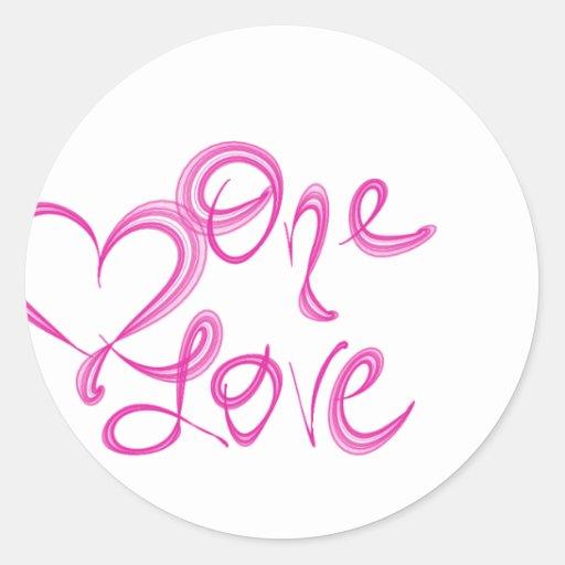 One Love Logo Sticker