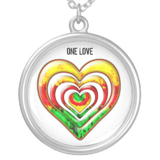 One Love Round Pendant Necklace