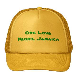 One Love Negril Jamaica Trucker Hat