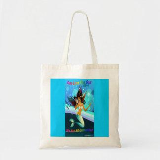 One Love One Gulf Mermaid reuseable cloth bag